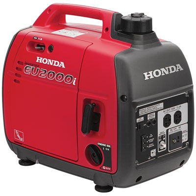 Honda EU2000I Super Quiet Light Weight Inverter 2000W 120v Fuel Efficient Generator with Parallel Capability and Oil Alert