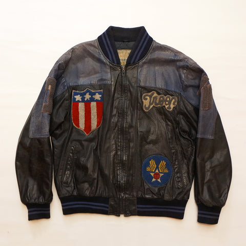 "Vintage ""Style By Troop"" Leather Troop Jacket (MEDIUM)"