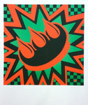 Orange & Green Claw Money Print