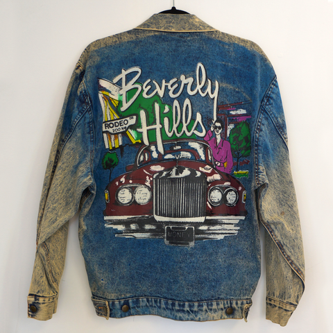 Vintage Beverly Hills Airbrush Denim Jacket.