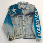 Vintage HOLLY WOOD Airbrush Denim Jacket.