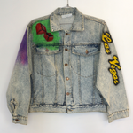 Vintage Las Vegas Airbrush Denim Jacket