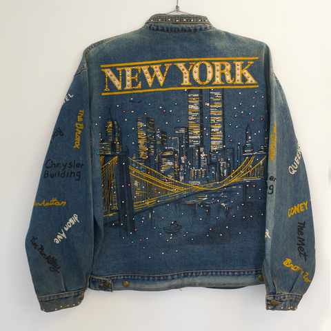 Vintage NYC Twin Towers Denim Jacket