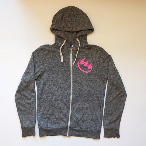 PMS HEATHER GREY ZIP HOODIE