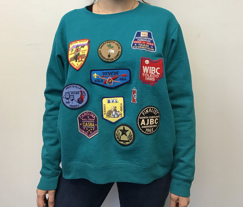 Aqua Patch Sweater