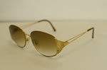 Vintage Genuine Christian Dior Gold Sunglasses