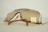 Vintage Rare Genuine Christian Dior Shield Gold Sunglasses 2434 48