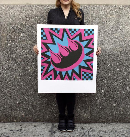 Pink & Blue Claw Money Print