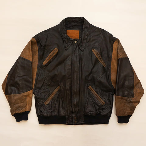 "Vintage Troop Professional ""Sports Club"" Leather Jacket"