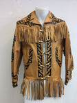 Aztec Fringe Leather Jacket