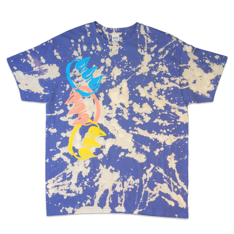 BLEACH DYED CLAW CHAIN TEE