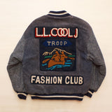 "Vintage 1980's L.L. COOL J ""Fashion Club"" TROOP Leather Jacket"