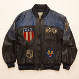 "Vintage ""Style By Troop"" Leather Troop Jacket (XL)"
