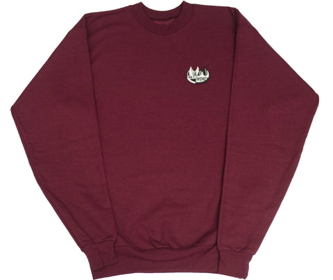 Embroidered Burgundy Claw Crewneck Sweatshirt
