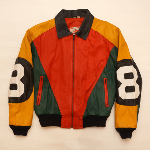 "Vintage Leather ""8 Ball"" Jacket By By Boulder Ridge"