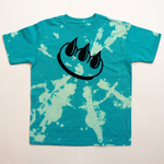 BLUE BLEACH DYED CLAW TEE