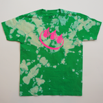 GREEN BLEACH DYED CLAW TEE