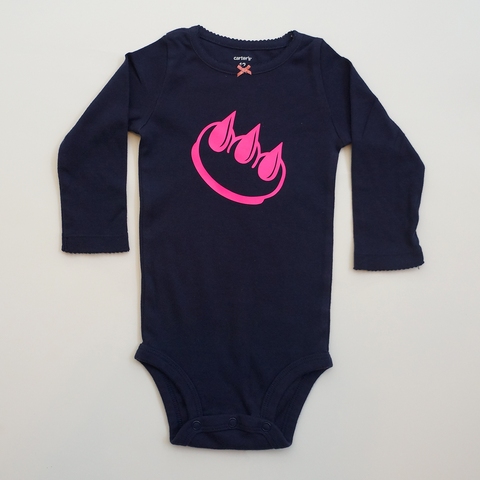 Blue Claw Money baby onesie
