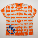 ORANGE CLAW POLO TIE DYE TEE