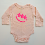 Pink Claw Money baby onesie