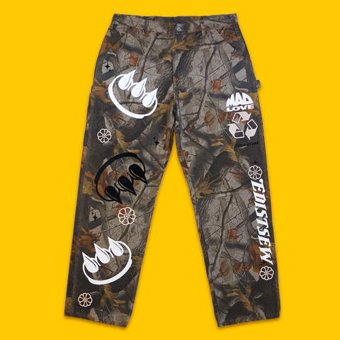 "EDISTSEW X CLAW 1 OF 1 ""REAL TREE"" CARHARTT CARPENTER PANTS"