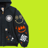 "EDISTSEW X CLAW 1 OF 1 CARHARTT ""MOOD BOARD"" WORK JACKET"