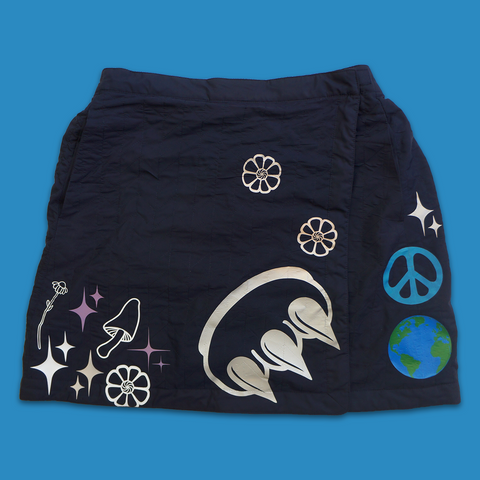 "EDISTSEW X CLAW 1 OF 1 ""WORLD PEACE"" SKIRT"