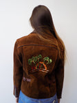 Geronimo Leather Palm Tree Jacket