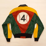 "Vintage Leather ""4 Baseball"" Jacket By Glen Wood"