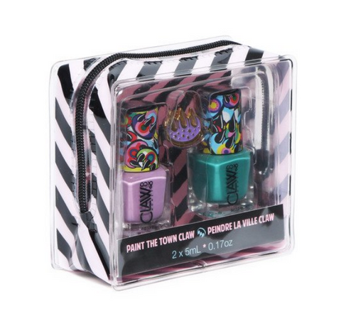 Paint The Town! Claw Nail Polish, Pin, & Case Set