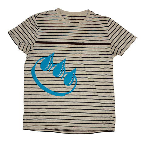 VINTAGE STRIPED CLAW TEE