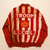 "Vintage Original 1980's ""L.L. COOL J""  Red Leather TROOP Suit Set"