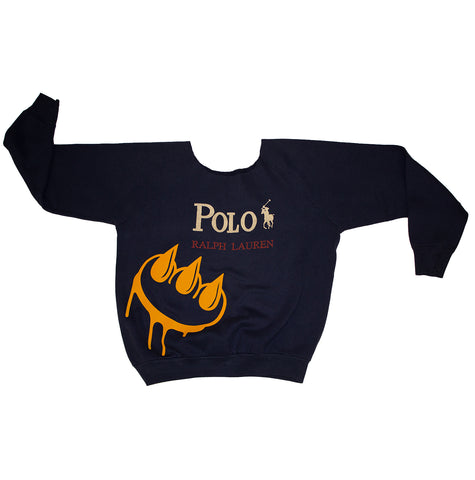 VINTAGE POLO CLAW CREW NECK SWEATSHIRT.