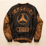 "Vintage 1980's Custom Volcano ""Mercedes Benz"" 350 SL Leather Jacket"