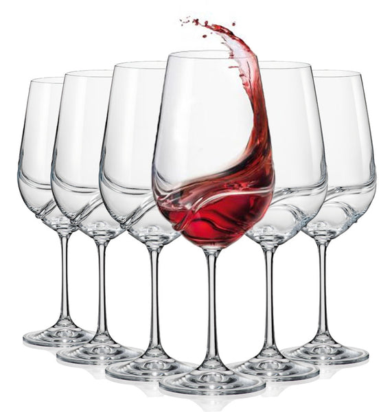 "Bohemia Crystal ""Aurora"" Crystal Wine Glasses  (Set of 6)"
