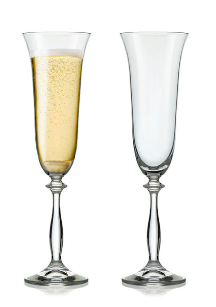 "Bohemia Crystal ""Angela"" Champagne Flutes - Set of 2 - available for sale at http://www.wineohh.com 