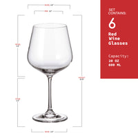 "Bohemia Crystal ""Dora"" Crystal Wine Glasses (Set of 6) - available for sale at http://www.wineohh.com 