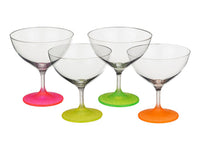 "Bohemia Crystal Neon ""Frozen"" Cocktail Glasses - Set of 4 - available for sale at http://www.wineohh.com 