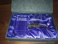 Rectangular Crystal Wine Stopper - available for sale at http://www.wineohh.com | Wine Ohh!