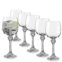 Bohemia Crystal Julia Wine Glasses (Set of 6) - available for sale at http://www.wineohh.com | Wine Ohh!