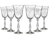 "Bohemia Crystal ""Royal Angela""  Crystal Red Wine Glasses (Set of 6)"