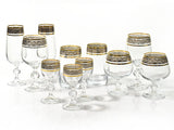 "Bohemia Crystal ""Claudia"" Gold Rim Liqueur Glasses - Set of 6"