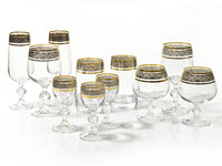 "Bohemia Crystal ""Claudia"" Gold Rim Champagne Flutes - Set of 6 - available for sale at http://www.wineohh.com 