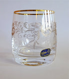 Bohemia Crystal Decorated Gold Rim Whiskey Glasses - Set of 6 - available for sale at http://www.wineohh.com | Wine Ohh!