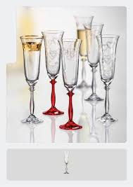 "Bohemia Crystal ""Love Angela"" Crystal Champagne Flutes, Set of 2 - available for sale at http://www.wineohh.com 