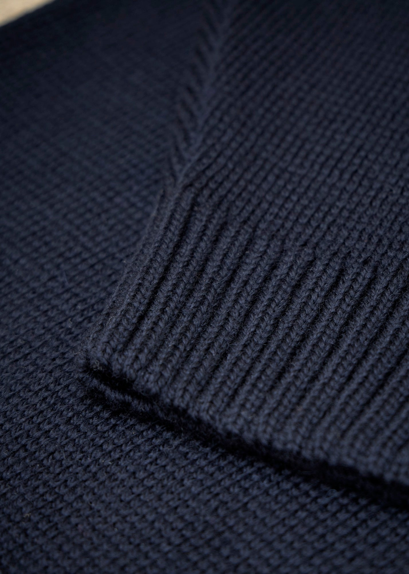 Merino Submariner Roll Neck - Navy