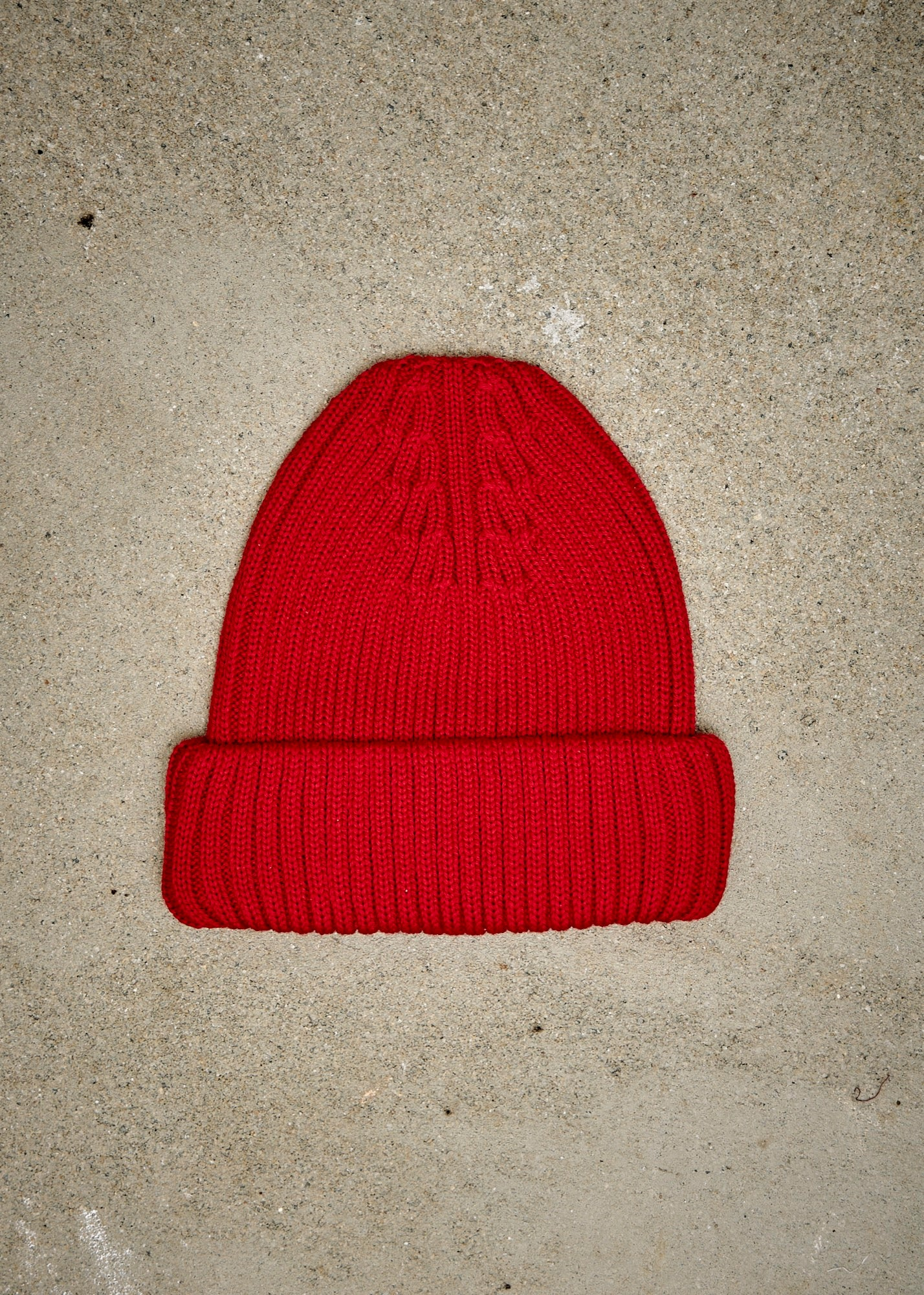 Extra Fine Merino Watch Cap - Red