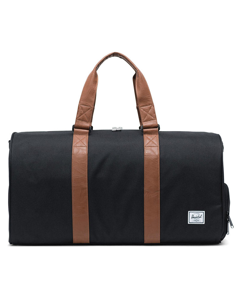 Herschel Supply Co Novel Mid Volume Duffle Bag - Black/Tan - Accessories - Dance Bags - Dancewear Centre Canada