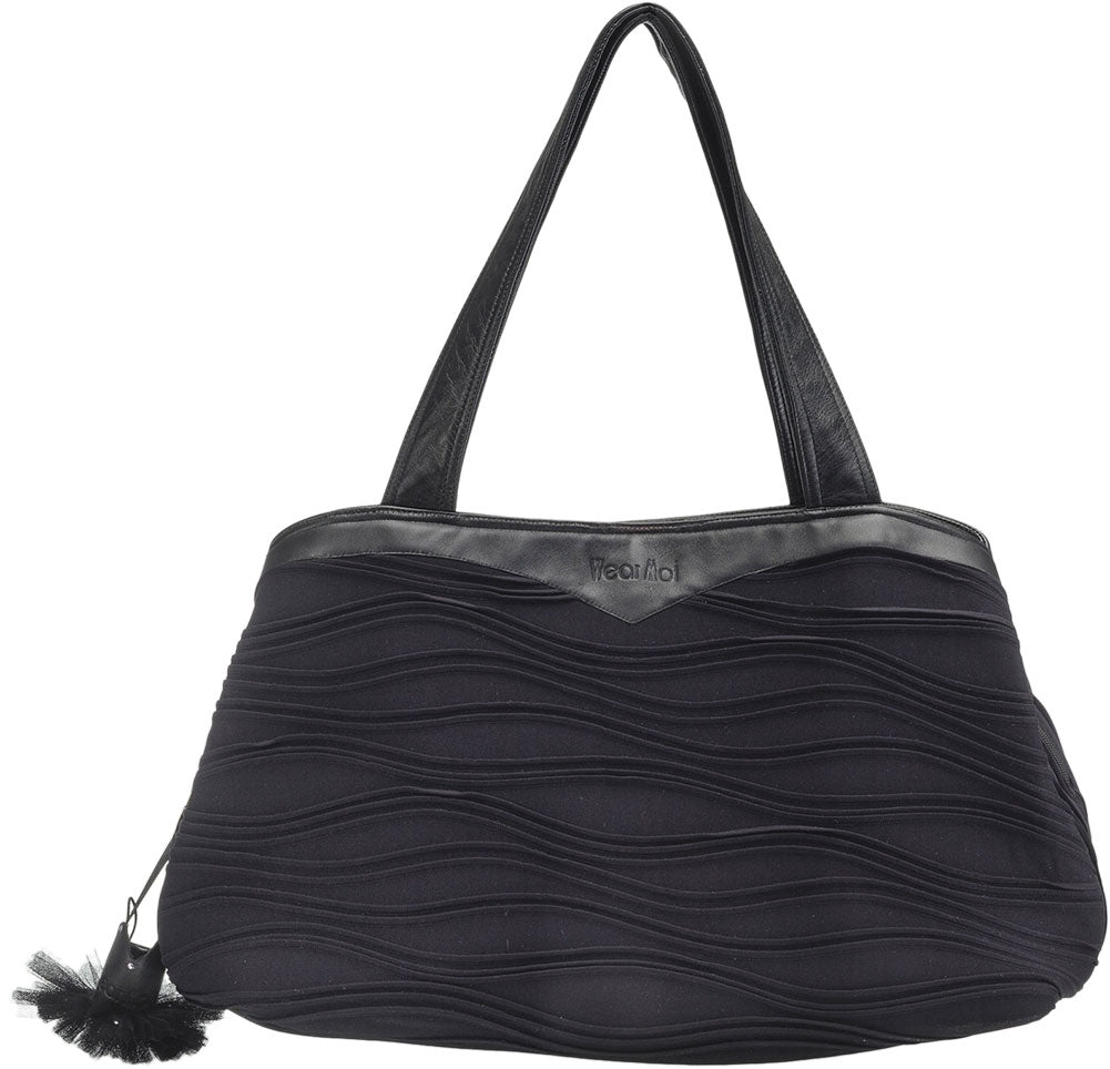 Wear Moi Wave Textured Leather Dance Bag - DIV 66 - Black - Accessories - Dance Bags - Dancewear Centre Canada