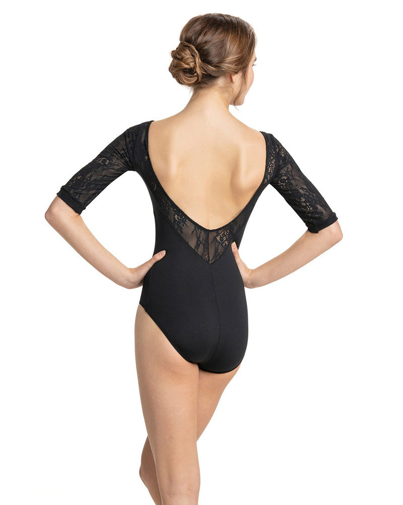Ainsliewear Celeste Kara Lace 3/4 Sleeve Leotard - 128KL Womens - Dancewear - Bodysuits & Leotards - Dancewear Centre Canada